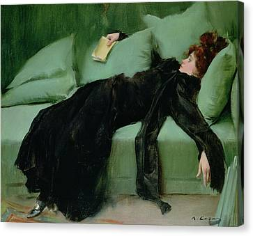 After The Ball  Canvas Print by Ramon Casas i Carbo