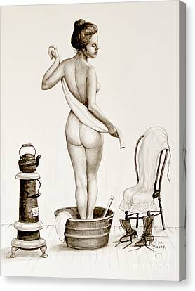 After The Bath 1890's Canvas Print