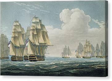 After The Battle Of Trafalgar Canvas Print