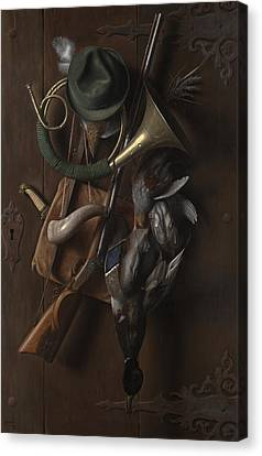 After The Hunt Canvas Print by William Michael Harnett