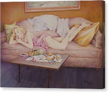 Lucky Couch Canvas Print by Duane R Probus