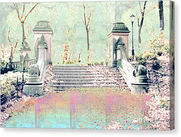 After The Rain In Central Park Canvas Print by Gabrielle Schertz