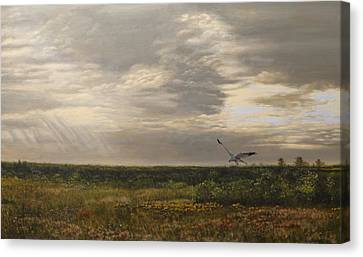 After The Rain The Larks Started Singing Canvas Print