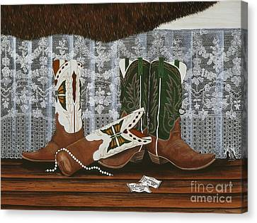 After The Rodeo Dance Canvas Print