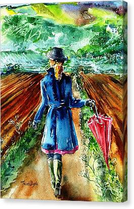 Canvas Print featuring the painting After The Showers  by Trudi Doyle