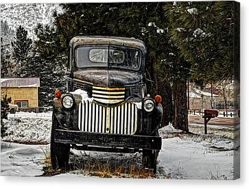 After The Snow Falls Canvas Print by Ken Smith