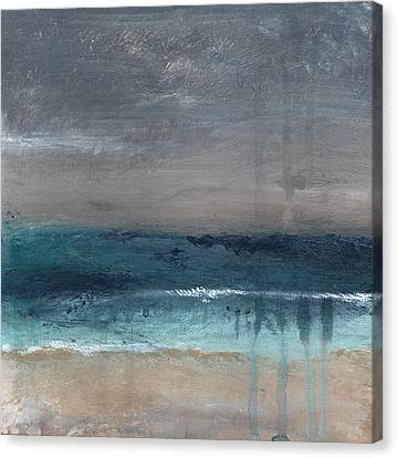 Abstract Art Canvas Print - After The Storm- Abstract Beach Landscape by Linda Woods