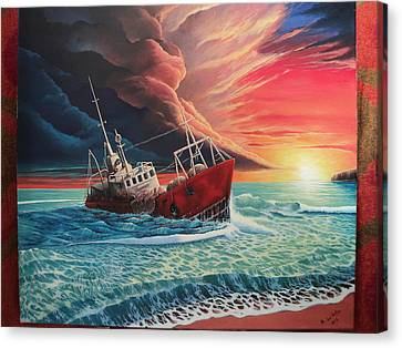After The Storm Canvas Print by Alejandro Del Valle