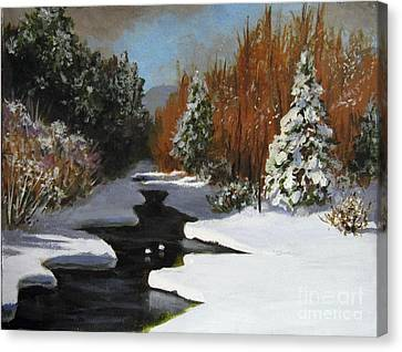 Canvas Print featuring the painting After The Storm by Carol Hart