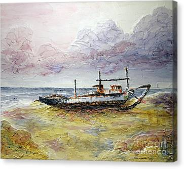 Canvas Print featuring the painting After The Storm by Joey Agbayani