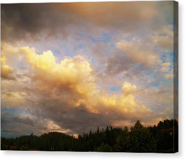 After The Storm -  Lake Arrowhead Canvas Print by Glenn McCarthy Art and Photography