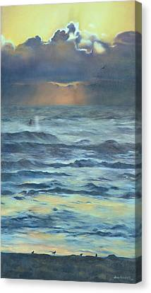 Canvas Print featuring the painting After The Storm by Lori Brackett