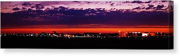 After The Sunset At Gerald R Ford Airport Canvas Print by Rosemarie E Seppala