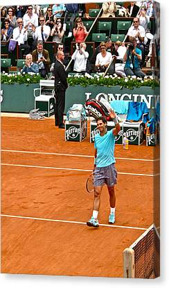 Rafael Nadal After Victory Canvas Print by Alexi Hoeft