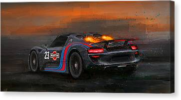 Afterburners On Canvas Print by Alan Greene