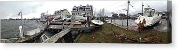 Aftermath Of Hurricane Sandy, Island Canvas Print by Panoramic Images