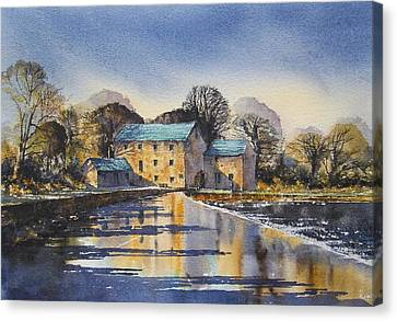 Afternoon At Mullins Mill Kilkenny Canvas Print