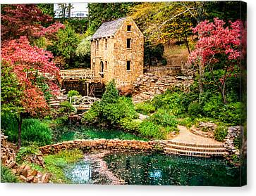 Canvas Print featuring the photograph Afternoon At The Old Mill - Arkansas by Gregory Ballos