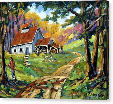 Afternoon Chores By Prankearts Canvas Print by Richard T Pranke