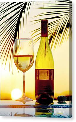 White Wine Canvas Print - Afternoon Delight by Jon Neidert