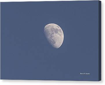 Afternoon Half Moon Canvas Print by Angela A Stanton