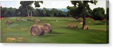 Afternoon Hay Canvas Print by Erin Rickelton