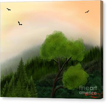 Afternoon Hills Canvas Print by Thomas OGrady