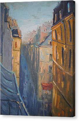 Afternoon In Rue Leopold Bellan Canvas Print by NatikArt Creations