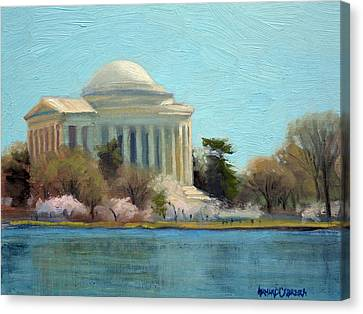 Jefferson Memorial Canvas Print - Afternoon Light Jefferson Memorial by Armand Cabrera