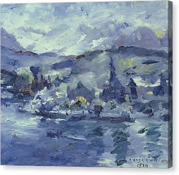 Afternoon On Lake Lucerne Canvas Print by Lovis Corinth