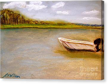 Canvas Print featuring the painting Tybee Island Afternoon On Alley 3 by D Renee Wilson