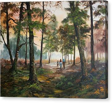Cannock Chase Canvas Print - Afternoon Ride Through The Forest by Jean Walker