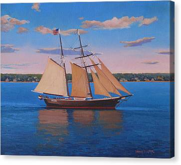 Afternoon Sail Canvas Print by Dianne Panarelli Miller