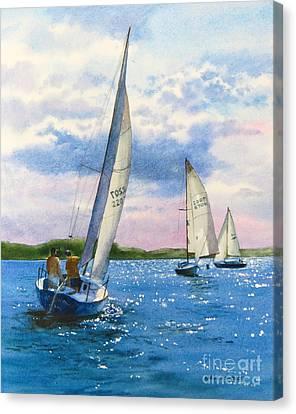 Afternoon Sail Canvas Print by Karol Wyckoff