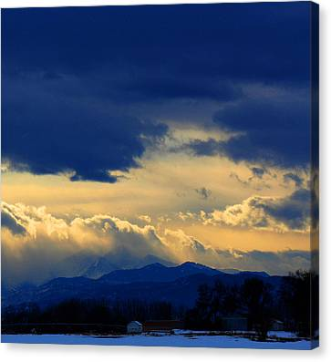 Canvas Print featuring the photograph Afternoon Storm by Silke Brubaker