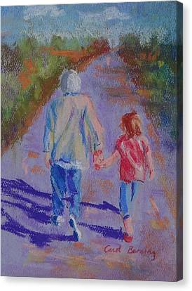 Afternoon Stroll Canvas Print by Carol Berning