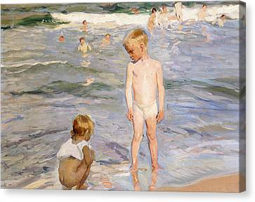 Afternoon Sun Canvas Print by Joaquin Sorolla y Bastida