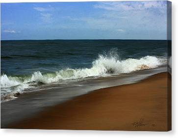 Afternoon Surf Canvas Print by Forest Stiltner