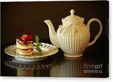 Afternoon Tea And Tiramisu Canvas Print by Inspired Nature Photography Fine Art Photography