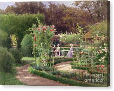 Afternoon Tea By The Laurel Arch Canvas Print