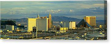 Afternoon The Strip Las Vegas Nv Usa Canvas Print by Panoramic Images