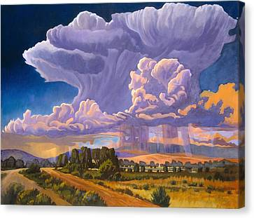 Canvas Print featuring the painting Afternoon Thunder by Art James West