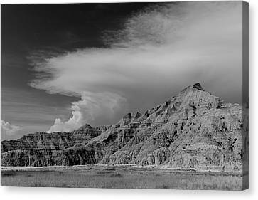 Afternoon Thunderstorm Pine Ridge Agency Sd Canvas Print by Troy Montemayor