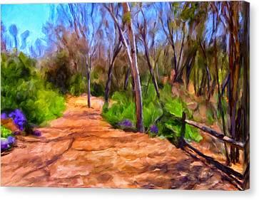 Split Rail Fence Canvas Print - Afternoon Walk by Michael Pickett