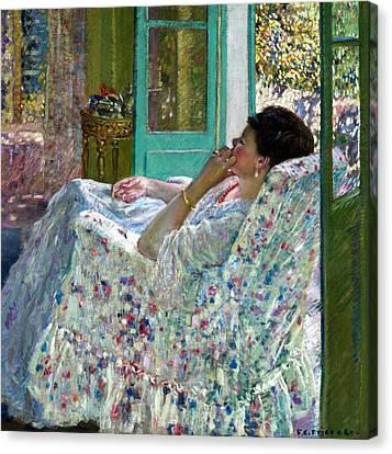 Gold Bracelet Canvas Print - Afternoon Yellow Room by Carl Frieseke