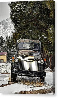 Afther The Snow Falls Verticle Canvas Print by Ken Smith