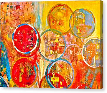 Against The Rain Abstract Orange Canvas Print