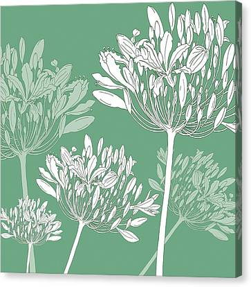 Pattern Canvas Print - Agapanthus Breeze by Sarah Hough
