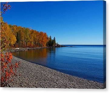 Agate Beach On Lake Superior Canvas Print by Steve Anderson