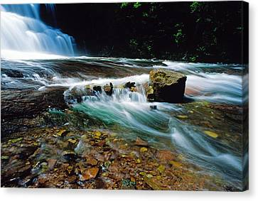 Agate Falls In U.p. Canvas Print